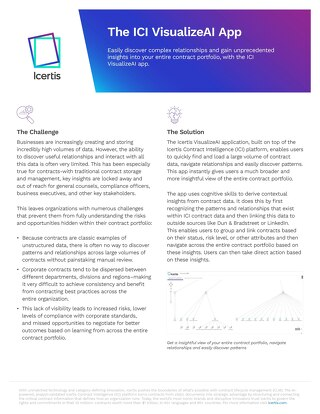 Icertis VisualizeAI App Datasheet