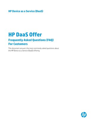 What is HP DaaS?