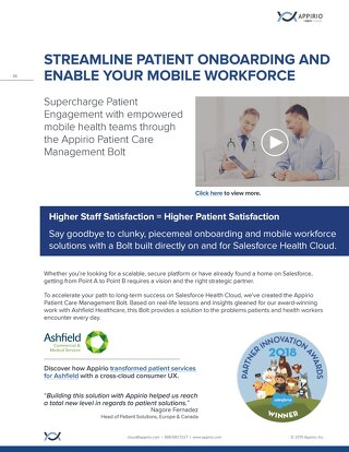 Appirio Patient Care Management Bolt