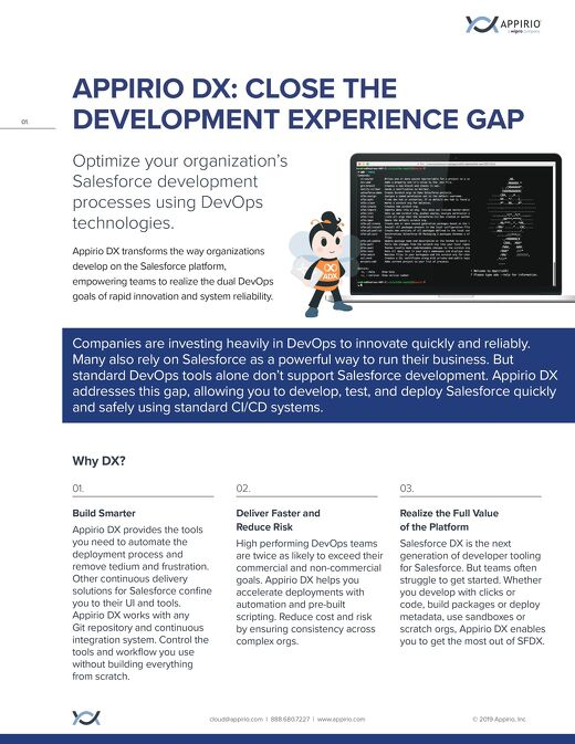 AppirioDX Close the Development Experience Gap One-Pager