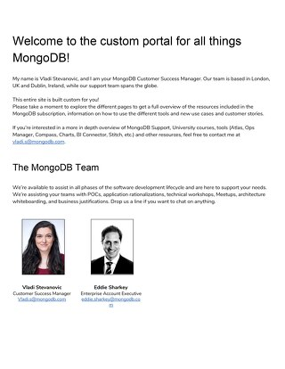 Meet your MongoDB Team!