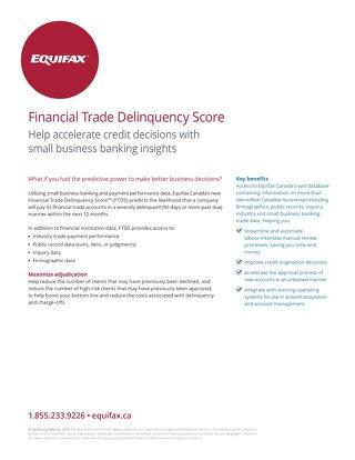 Financial Trade Delinquency Score