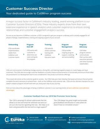 CallMiner Customer Success Directors