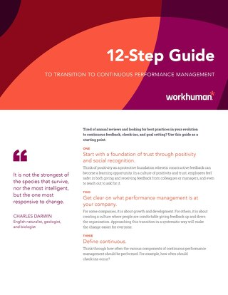 12-Step Guide to Transition to Continuous Performance Management