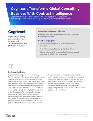Cognizant case study