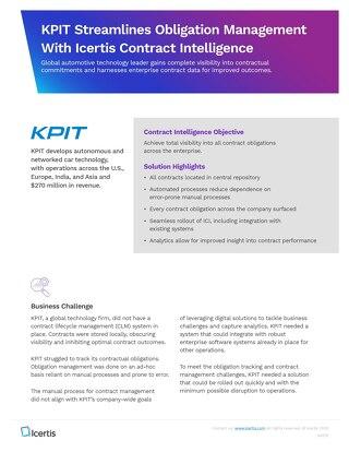 Icertis KPIT case study