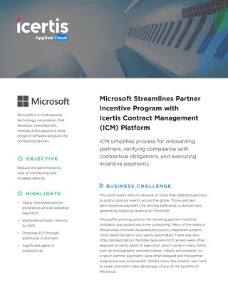 Microsoft Partner Incentives case study