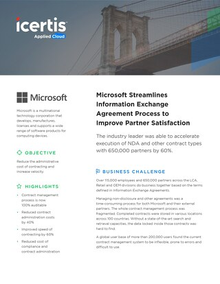 Microsoft Exchange Agreements (NDA) case study