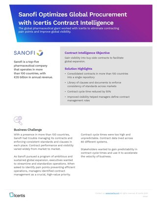 Case Study | Sanofi Unifies Global Procurement