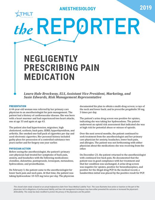 Reporter 2019 Anesthesiology