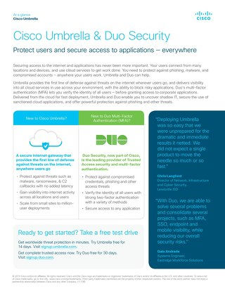 Cisco Umbrella & Duo Security