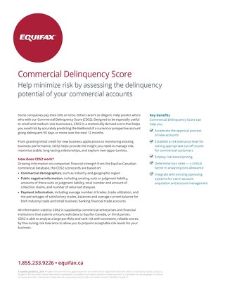 Commercial Delinquency Score