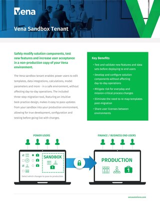 Vena Solution Package: Sandbox Tenant