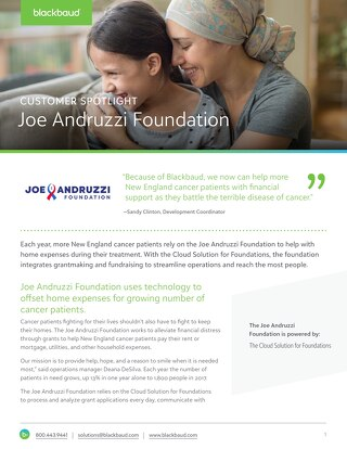 Customer Spotlight: Joe Andruzzi Foundation