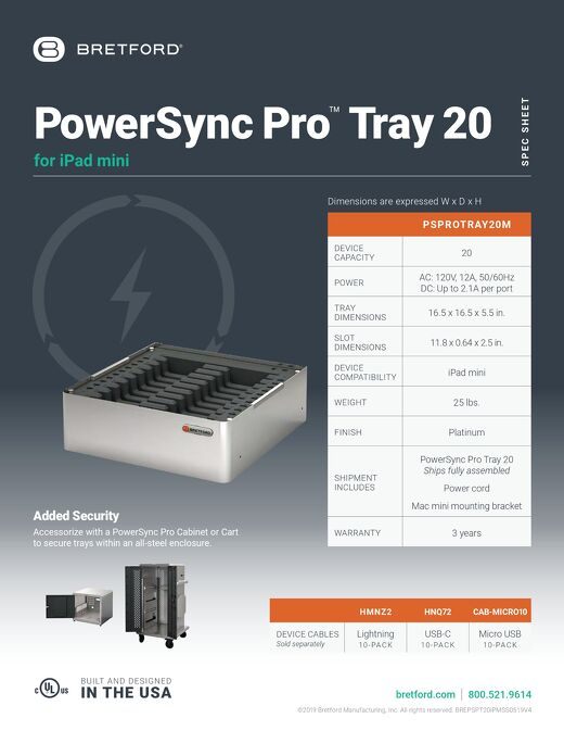 PowerSync Pro Tray 20 for iPad mini