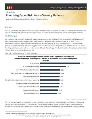 ESG Lab Review – The Kenna Security Platform