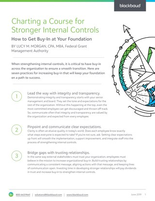 Tipsheet: Internal Controls for Grantmakers
