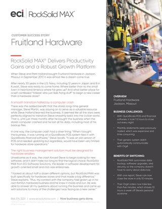 Fruitland Hardware: RockSolid MAX Delivers Productivity Gains