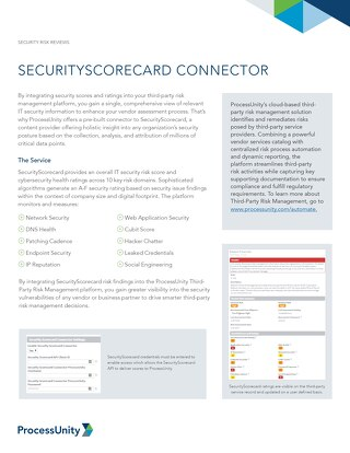 SecurityScorecard Connector