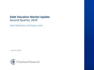 Slides: Debt valuation market update - Q2 2019
