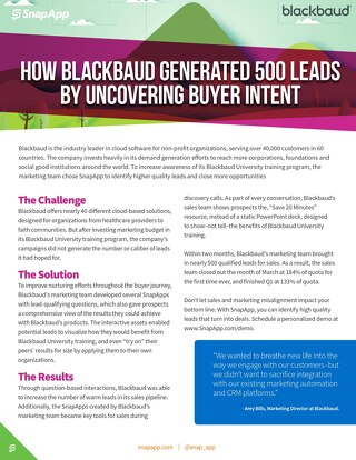 Case Study: Blackbaud