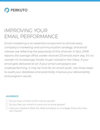 Improving Your Email Performance Checklist