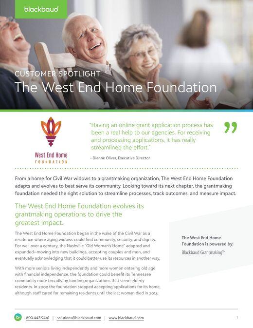 Customer Spotlight: West End Home Foundation