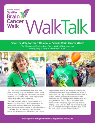 2019 Post Seattle Brain Cancer WalkTalk