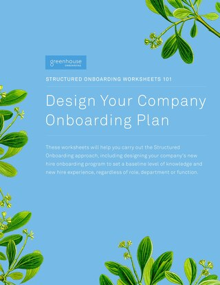Structured Onboarding Worksheets 101 - Design Your Company Onboarding Plan