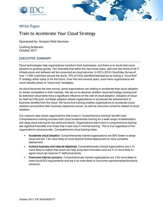 IDC Whitepaper - Train to Accelerate Your Cloud Strategy