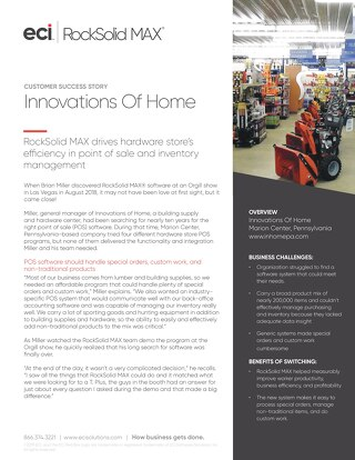 Innovations of Home: RockSolid MAX Success Story