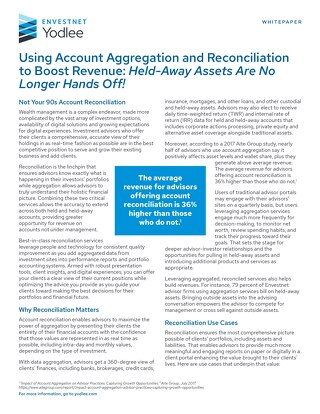 Using Account Aggregation and Reconciliation to Boost Revenue