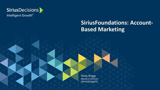 SiriusFoundations: Account-Based Marketing