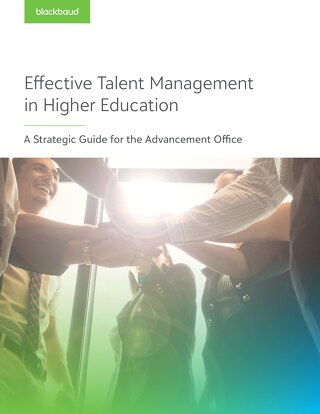 Guidebook: Blackbaud's Strategic Guide to Effective Talent Management