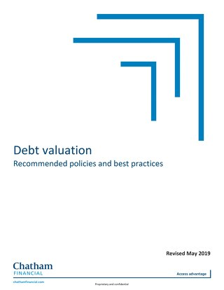 Debt Valuation Recommended Policies and Best Practices