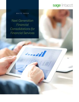 Next Generation Financial Consolidations for Financial Services