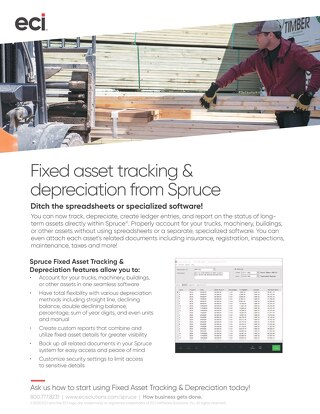 Spruce Fixed Asset Tracking Solution Brief