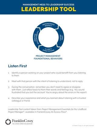 Listen First - Tool