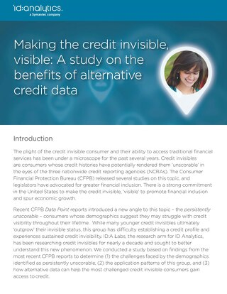 Making the Credit Invisible, Visible