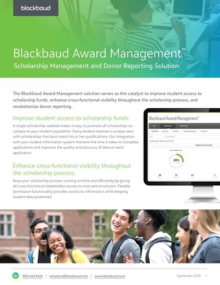 Award Management Datasheet