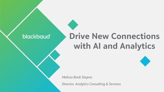 Drive Connections with AI and Analytics