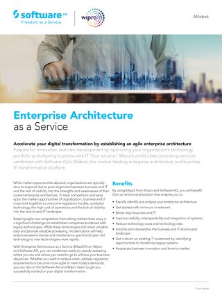 Enterprise Architecture as a Service