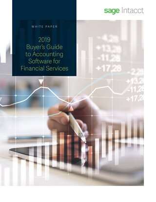 2019 Buyer's Guide to Accounting Software for Financial Services