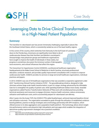 Case Study - Leveraging Data to Drive Clinical Transformation in a High-Need Patient Population