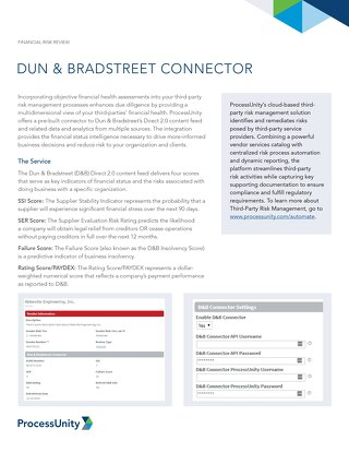 Dun and Bradstreet Connector