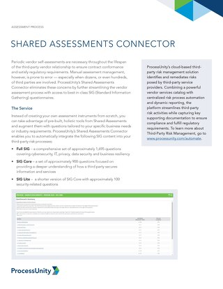 Shared Assessments Connector