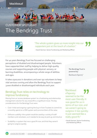 The Bendrigg Trust | eTapestry