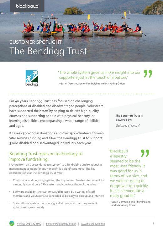 The Bendrigg Trust | eTapestry
