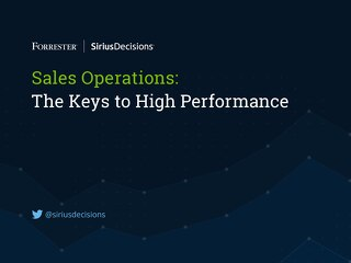 Sales Operations: Brand and Communications: The Keys to High Performance