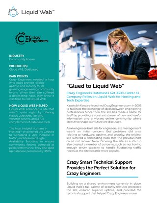 """Glued to Liquid Web"" - Crazy Engineers Case Study"